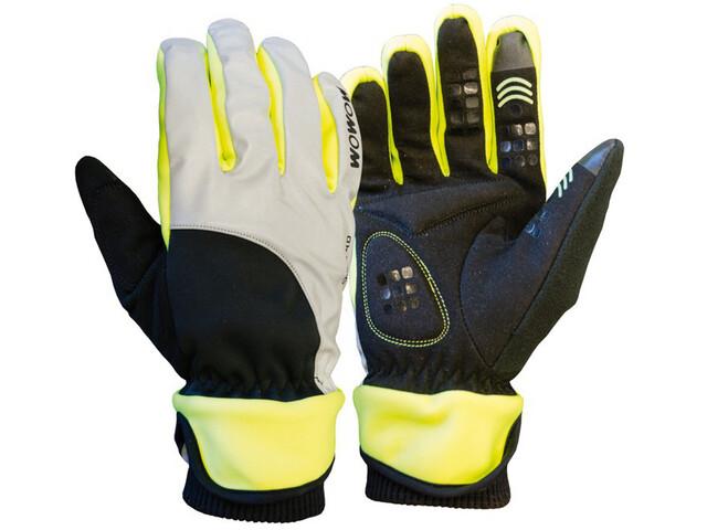 Wowow Dark 4.0 Handschuhe Unisex reflektierend grau/schwarz/gelb